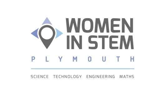 Women in STEM Plymouth logo.